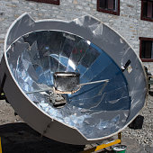 Solar cooker in the Himalaya mountains. Nepal