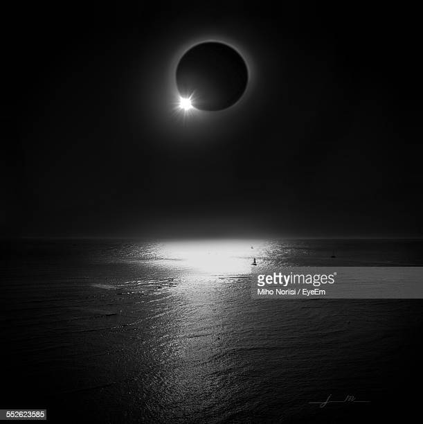 Solar Eclipse Over Sea