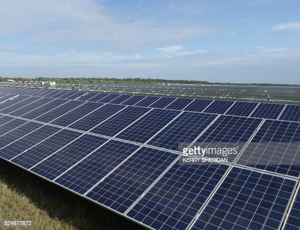 A solar farm under construction in Punta Gorda Florida on April 22 2016 where enough energy will be produced to power 21000 homes With deep pockets...