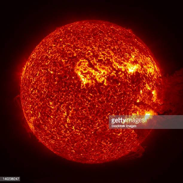 A M-2 solar flare with coronal mass ejection.