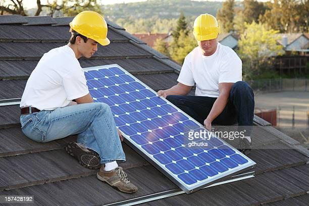Installers solaire sur le toit