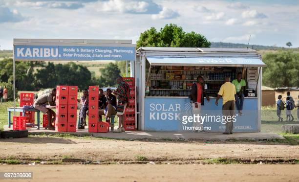 Solar kiosk in Kenya on May 17 2017 in Talek Kenya