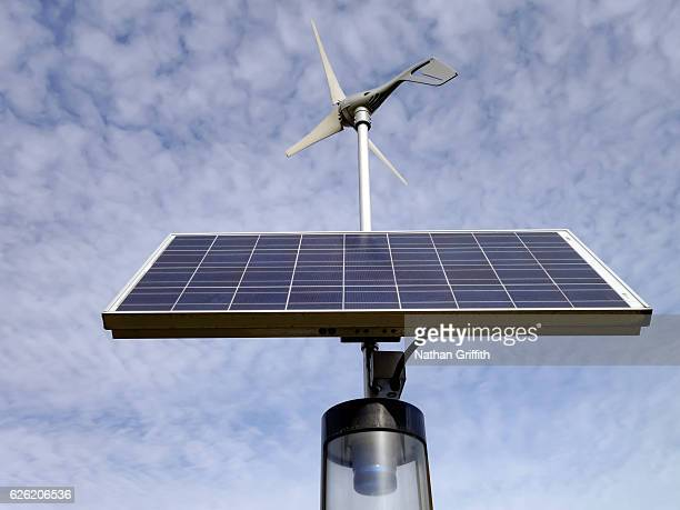 solar panel and wind meter