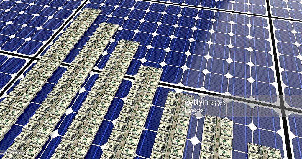 Solar Panel - Bar graphs : Stock Photo