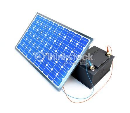 Pannello solare ricarica della batteria foto stock for Immagini pannello solare