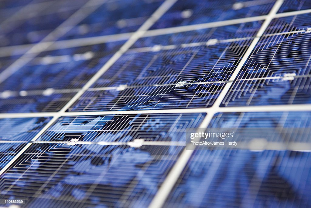 Solar panel, extreme close-up : Stock Photo