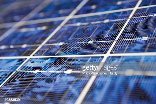 Solar panel, extreme close-up : Foto de stock