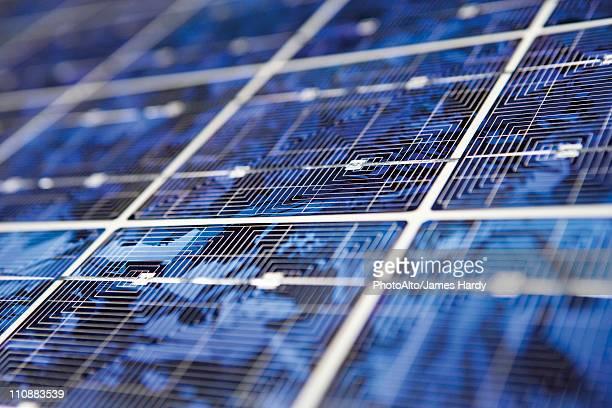Solar panel, extreme close-up