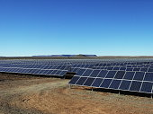 Big Renewable Energy Solar Panel Farm in The Karoo of South-Africa