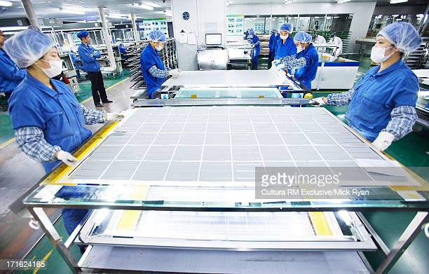 Solar panel manufacturing plant, Shanghai, China