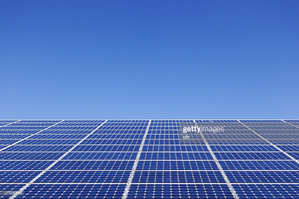 Solar panel on the roof : Stock Photo