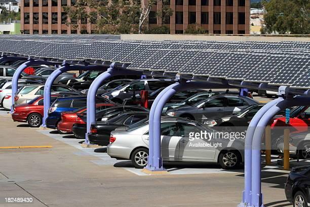 Sonnenkollektor Parkplatz-Struktur