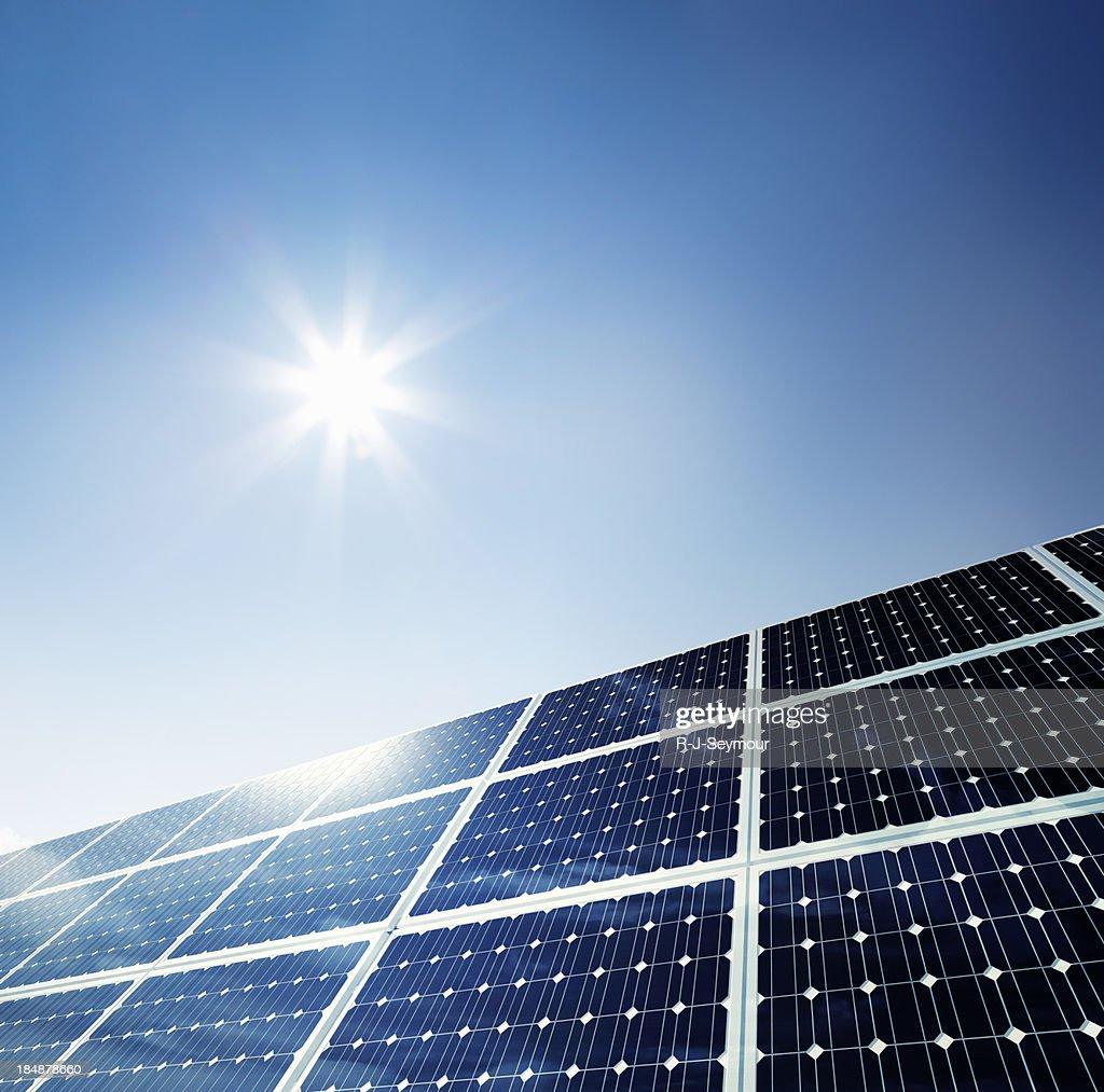 Solar Panel Under Clear Sky