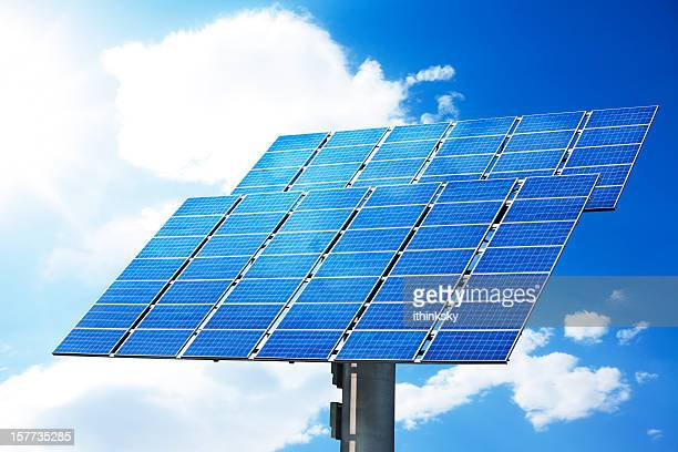Solar-panel mit clear sky