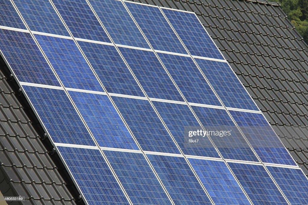 Panneaux solaires de la production d'énergie propre : Photo
