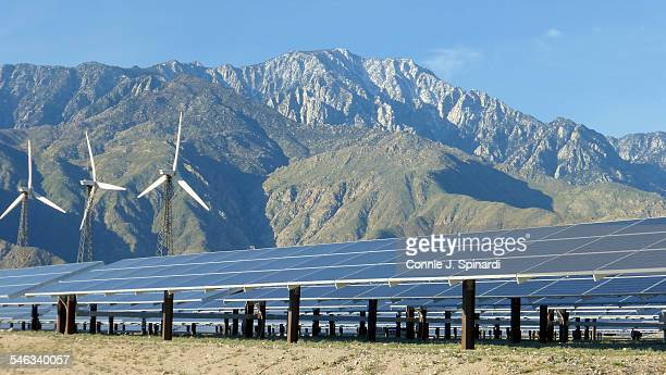 Solar Panels and wind turbines in Palm Springs March 2015