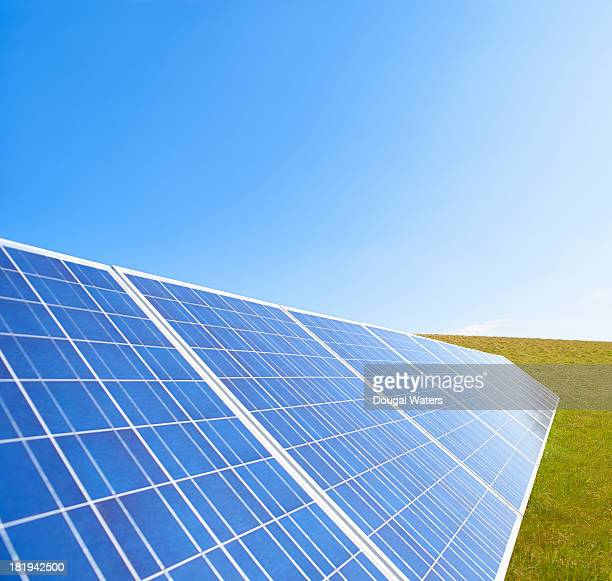 Solar panels in countryside.