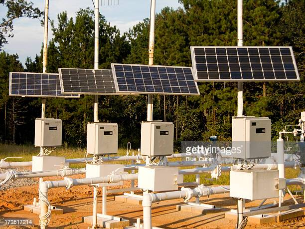 Solar panels in the forest