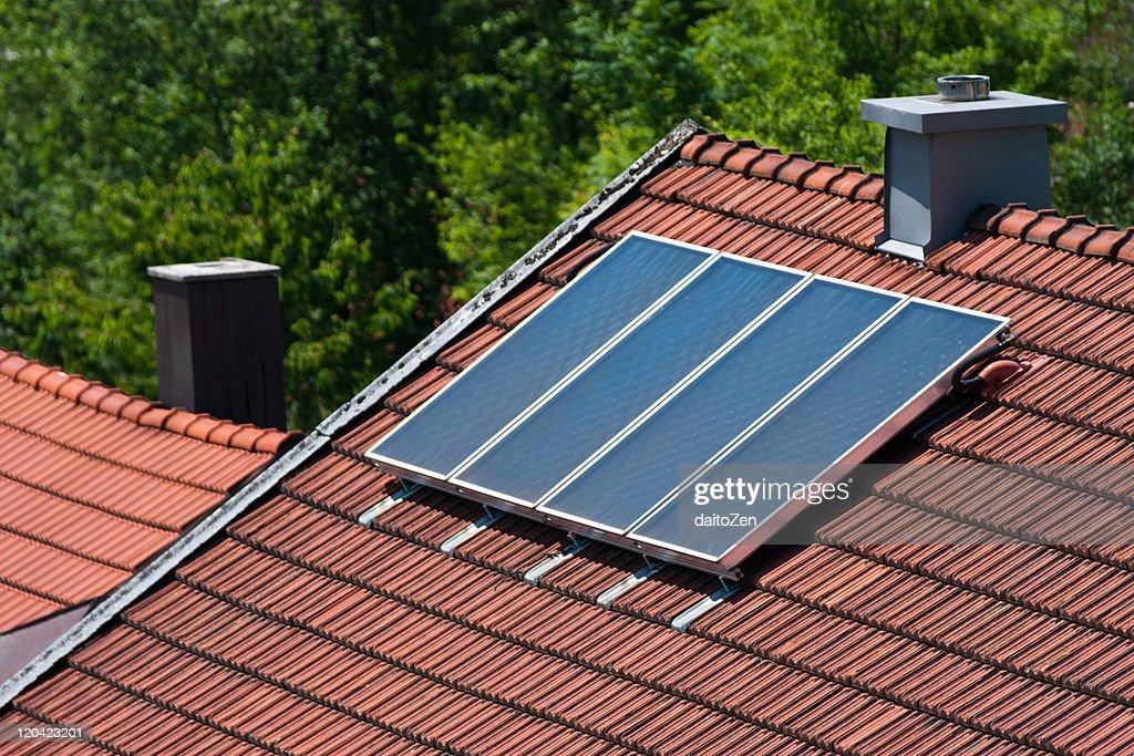 Solar panels on roof : Stock Photo