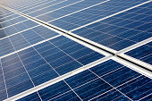 solar panels perspective background