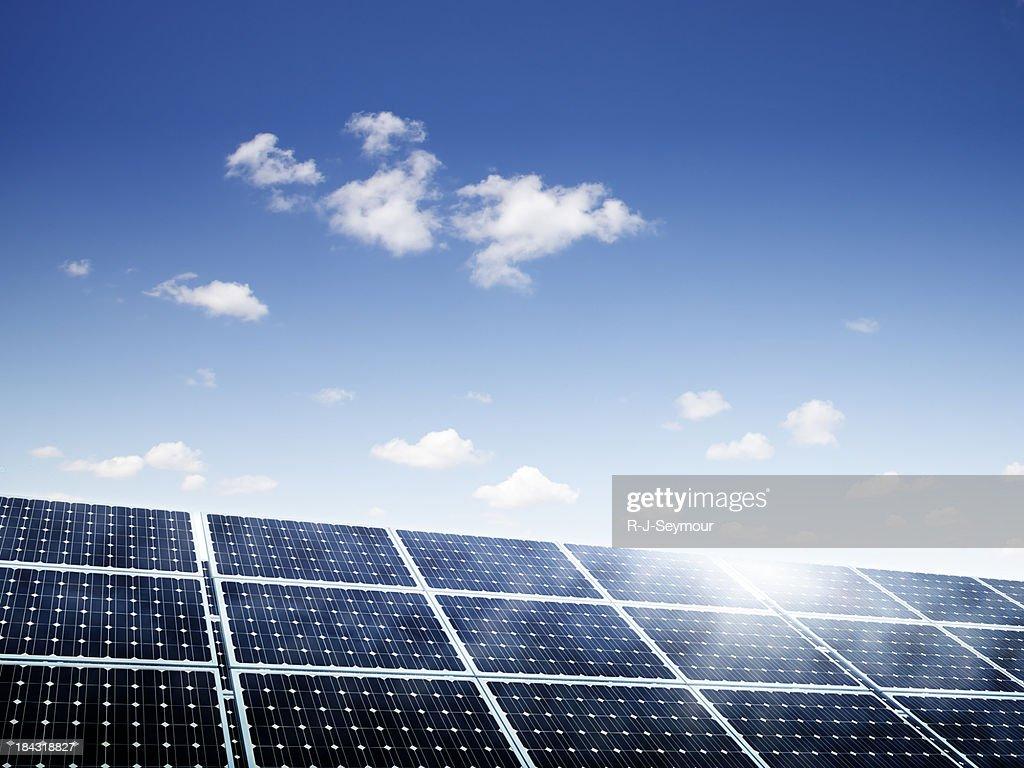 Solar Panels Under Summer Skies
