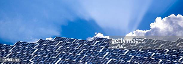 Solar Panels with Dramatic Sky