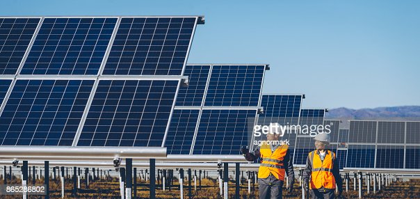 solar power station : Stock Photo