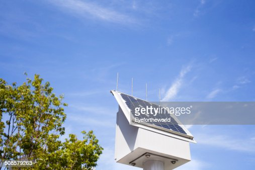 Solar power with clear-blue skies : Stock Photo