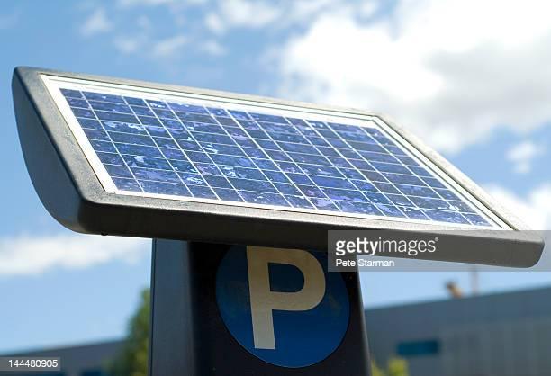 Solar powered parking kiosk