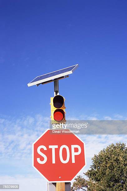 Solar powered stop sign