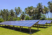 Solar PV modules in Rarotonga, Cook Islands. It is expected that Cook Islands will be entirely solar powered by 2020[