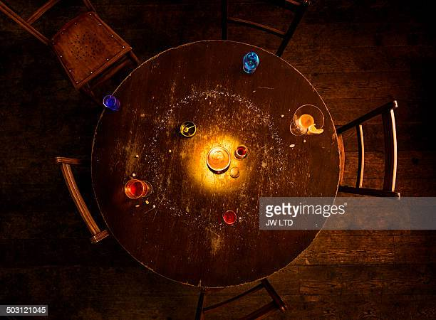 solar system model on pub table
