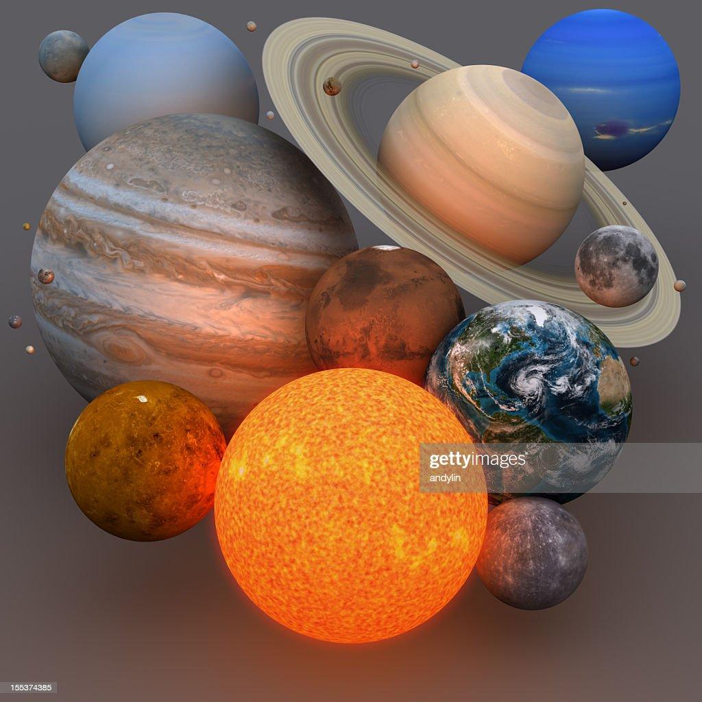 Sistema solare : Foto stock