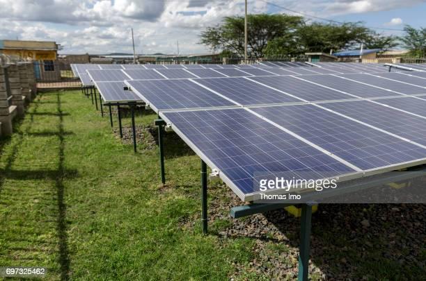 Solar systems in the Talek Power solar power plant on May 17 2017 in Talek Kenya