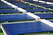 Solar water heating thermal collector system
