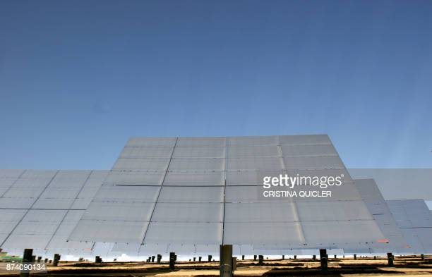 A solar thermal electric power plant in Sanlucar La Mayor on February 13 2008 The plant works by using sunlight to generate heat To generate this...