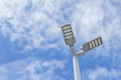 solarcell led lamp on bracket and blue sky