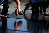 SolarCraft workers install solar panels on the roof of a home on February 26 2015 in San Rafael California According to a survey report by the Solar...