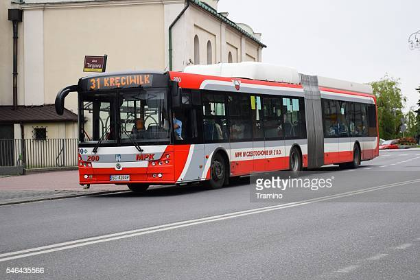 Solbus hybrid-CNG bus on the street