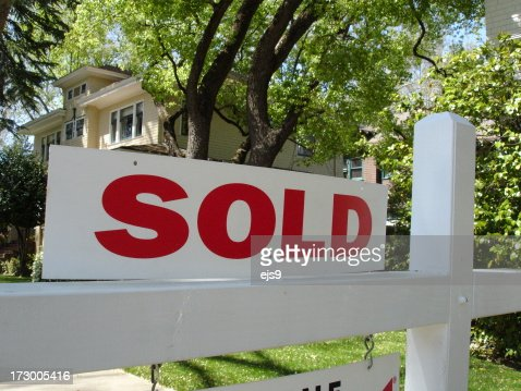 Sold California real estate sign and mansion house home