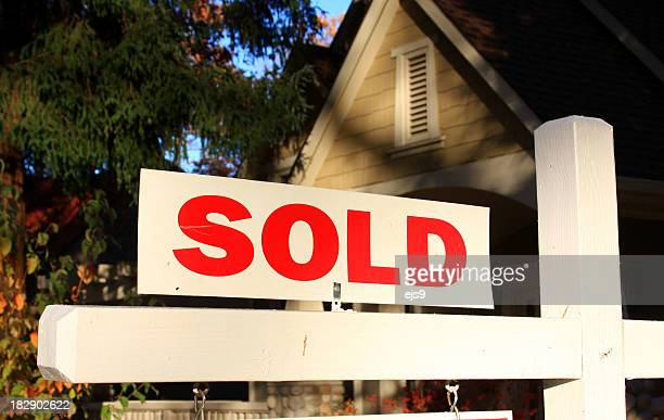 Sold real estate sign at a home in California