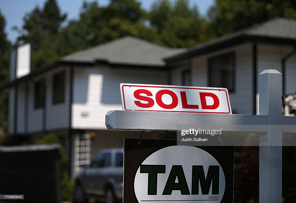 A sold sign is posted in front of a home for sale on July 2, 2013 in San Anselmo, California. According to a report by real estate data provider CoreLogic, home prices in the U.S. surged 12.2 percent in May compared to a year ago, the largest increase in seven years.
