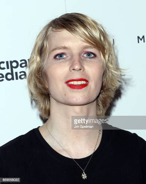 Soldier Chelsea Manning attends the 'Human Flow' New York screening at the Whitby Hotel on October 9 2017 in New York City