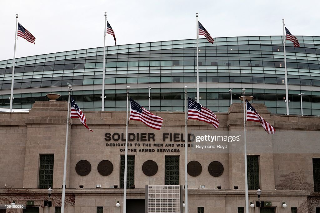 Soldier Field, home of the Chicago Bears, in Chicago, Illinois on JANUARY