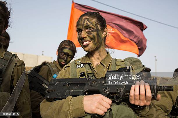 A soldier from the 'Karakal' Battalion ahead of a graduation march near the IsraeliEgyptian border on March 13 2010 near Azoz Israel The Karakal is a...