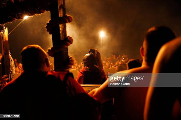 A soldier from Wargar kept watch inside Thunderdome as fighters wait their turn to enter the ring at Ragnarok XXXII on June 21 2017 For one week each...
