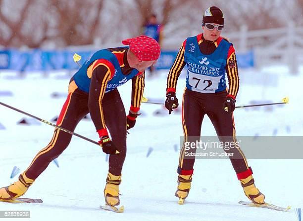 CITY 2002 Soldier Hollow BIATHLON/FRAUEN/SEHBEHINDERTE/FREISTIL 75km Verena BENTELE/GER GOLD mit Guide Ralph SCHMIDT