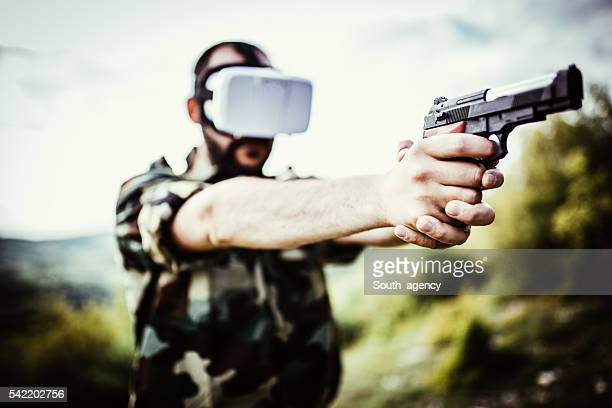 Soldier in VR space