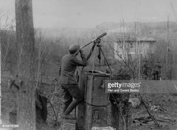 Soldier Looking Through a Telescope