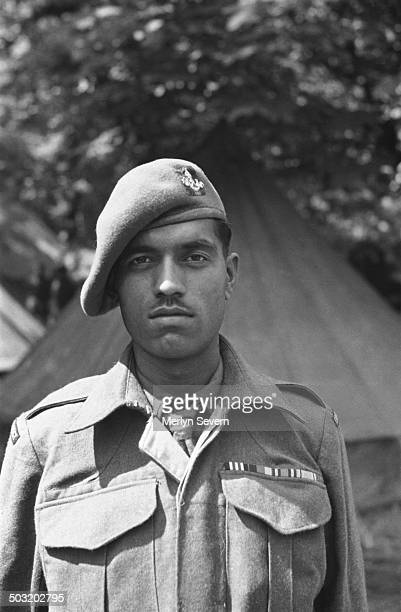 A soldier of an Indian Frontier Force Regiment in London to take part in the Victory Parade of 1946 on the first anniversary of victory in World War...